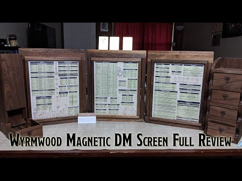 Magnetic DM Screen by Wyrmwood Gaming - Full Review - YouTube