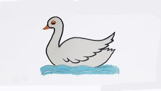 How To Draw An Easy Duck | Draw Duck For Kids | Drawing For Kids