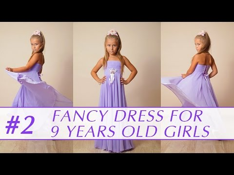 21f2c3f3413f How to sew a dress for 9 years old girl? DIY tutorial 2 - YouTube