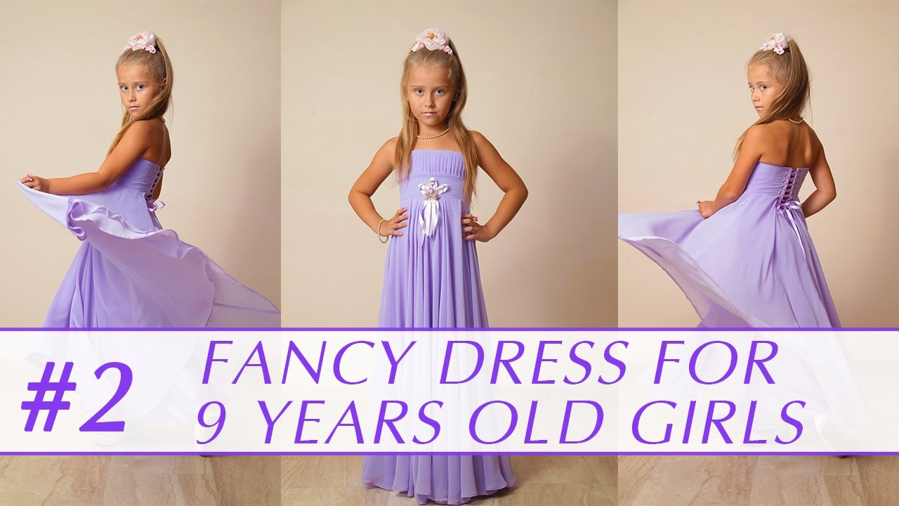 f6057fc09fc How to sew a dress for 9 years old girl  DIY tutorial 2 - YouTube