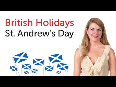 British English Holidays - St. Andrew's Day
