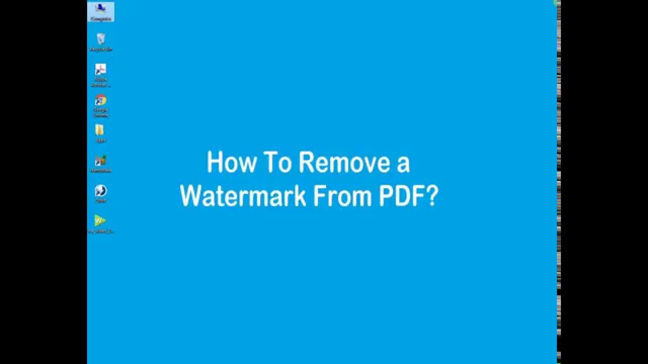 How to remove watermark from pdf files youtube for Pdf document watermark