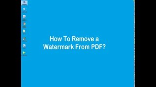 How Remove Watermark Pdf Files