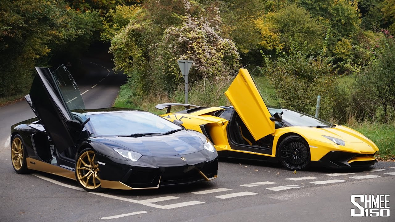 My Friend S New Aventador Miura 50 And Sv Roadster Youtube