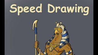 Ra, The Egyptian Sun God - Speed Drawing