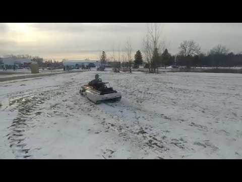 short video of a 1974 racing manta being driven at a sled show