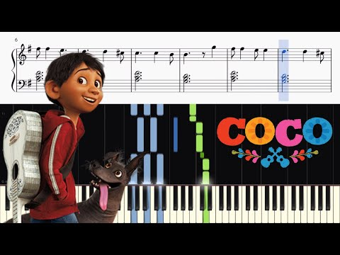 Disney's Coco - Un Poco Loco - Piano Tutorial + SHEETS