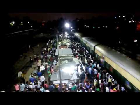 Indian train (7.40pm @ park circus station, canning local,Kolkata,WB) thumbnail