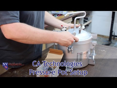 Setting up a CA Technologies Pressure Pot For Resin Casting