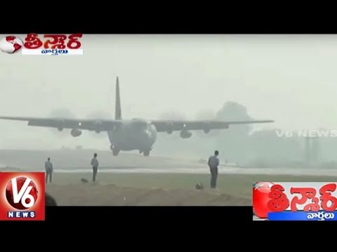 IAF Fighter Jets Land On Agra-Lucknow Expressway | Teenmaar News | V6 News