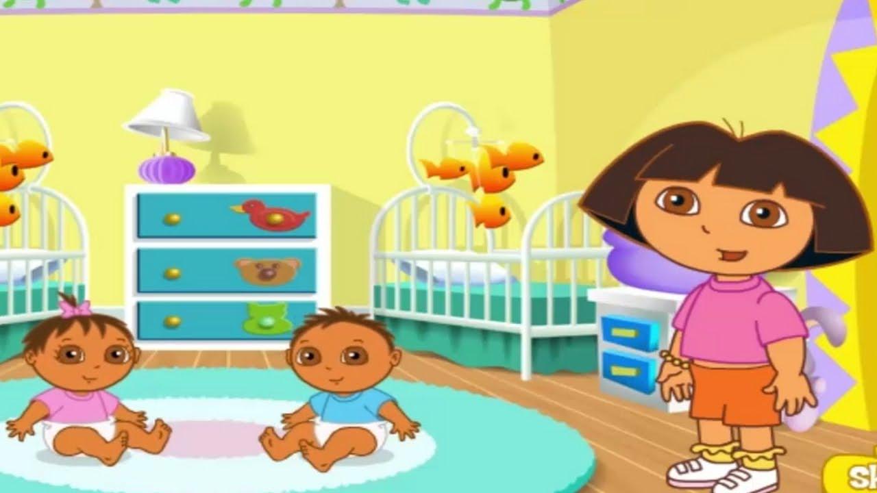 Dora la exploradora dora tiempo de juego con los gemelos - Juegos de gemelos ...