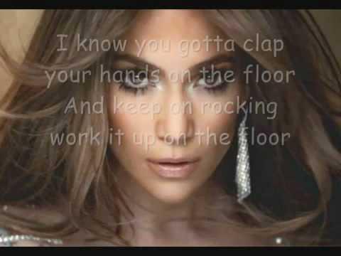 Jennifer Lopez On the floor featuring Pitbull (Lyrics on screen)