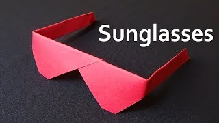 How to make origami sunglasses
