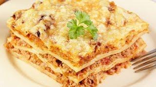 Лазанья с фаршем и соусом болоньезе / Простой и очень вкусный рецепт!