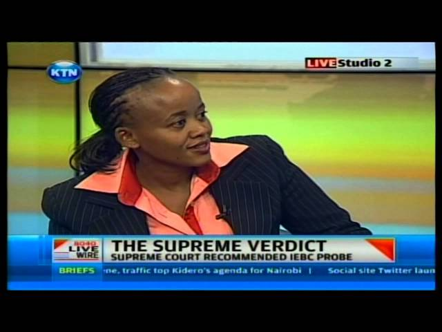 Kethi Kilonzo on Supreme court ruling on Live wire Travel Video