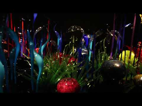 One display at Chihuly Garden and Glass art museum