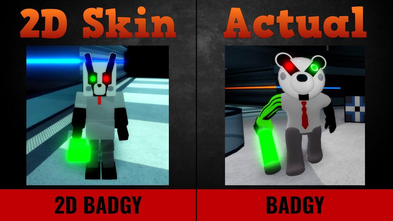 Piggy 2D Skins vs Piggy Characters