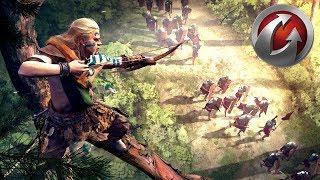 Лучники Амбиорикса загнали Римлян в угол! - Total War Arena