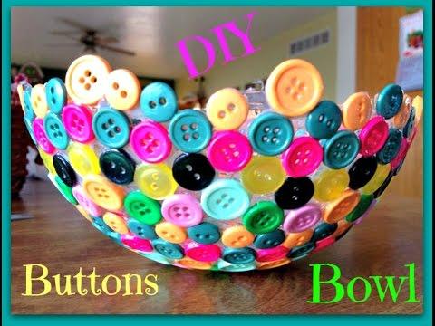 Diy buttons bowl youtube for Bricolage per la casa