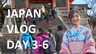 Japan Vlog Day 3-6 - Kyoto, Osaka and Tokyo