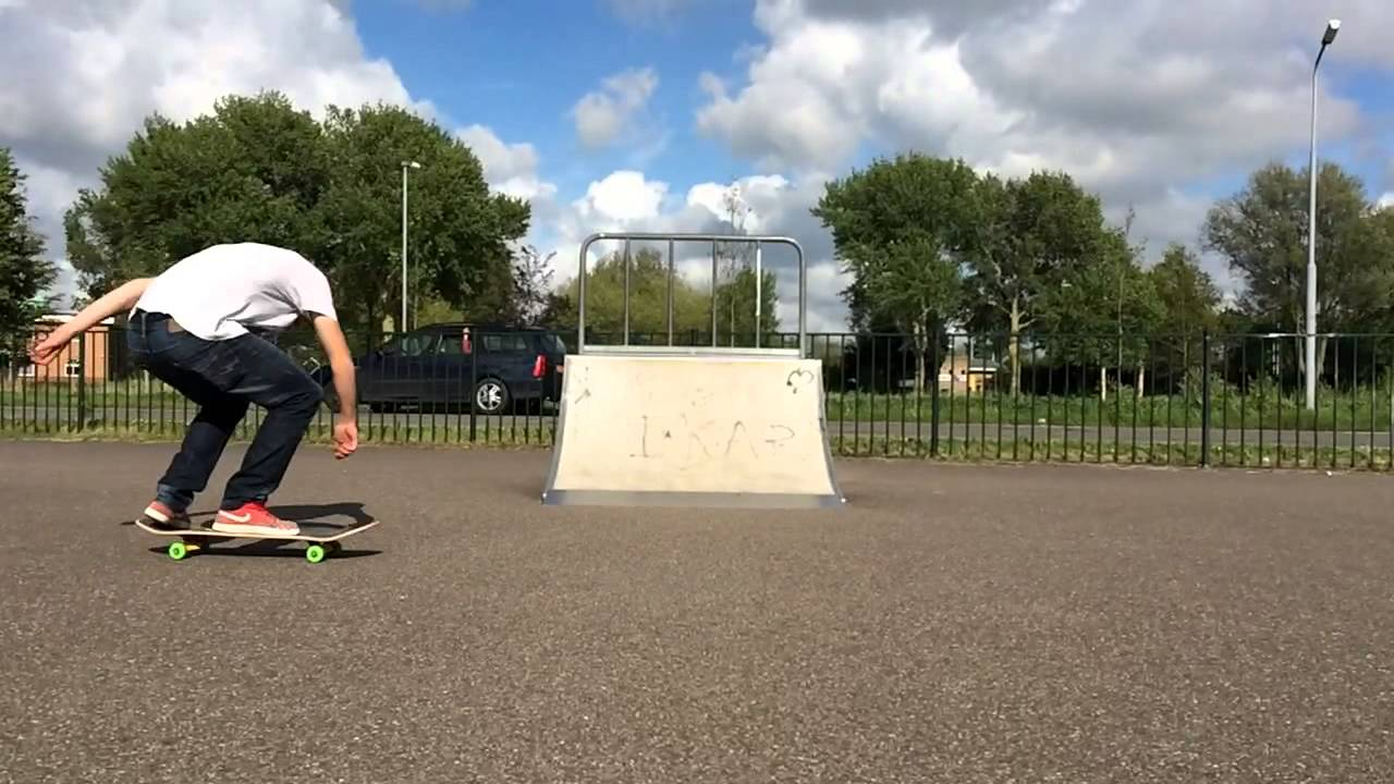 Railey van der Zel new trick: backside bigspin flip