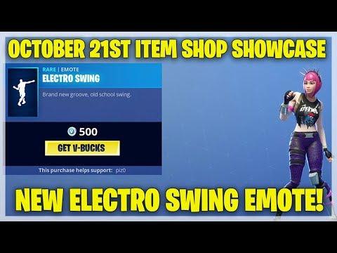 Fortnite Item Shop ELECTRO SWING IS HERE! [October 21st, 2018] (Fortnite Battle Royale)