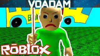 Baldi Plays Baldi's Basics In Roblox! (VOAdam as Baldi)