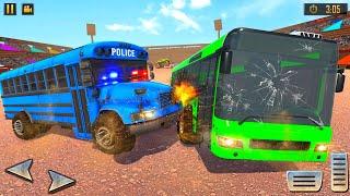Us Grand Police Bus Demolition Derby Crash Stunts Simulator 3d 2021 - android gameplay. screenshot 4