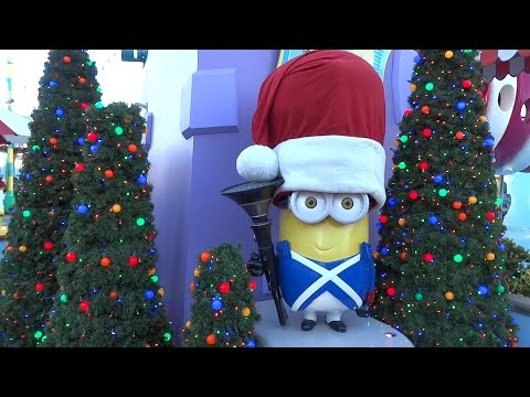 Christmas decorations 2015 at Universal Studios Hollywood