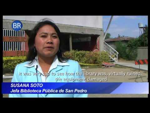 Bibliotecas Públicas dañadas por terremoto (Public libraries damaged by the earthquake in Chile)