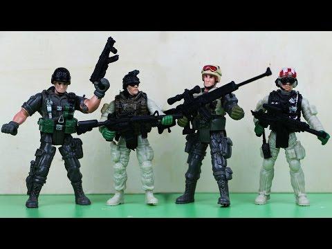 Видео для мальчиков с солдатиками, Мультфильм про армию, стрельбы,  Игры и игрушки для мальчиков