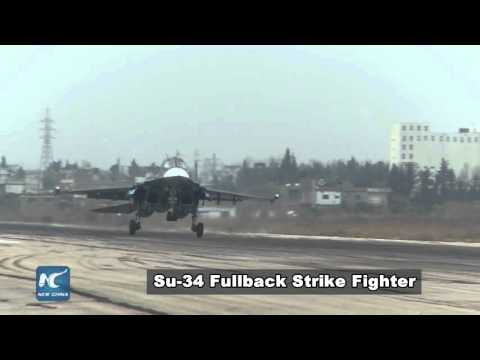 Russia's military power at Latakia airbase in 100 seconds