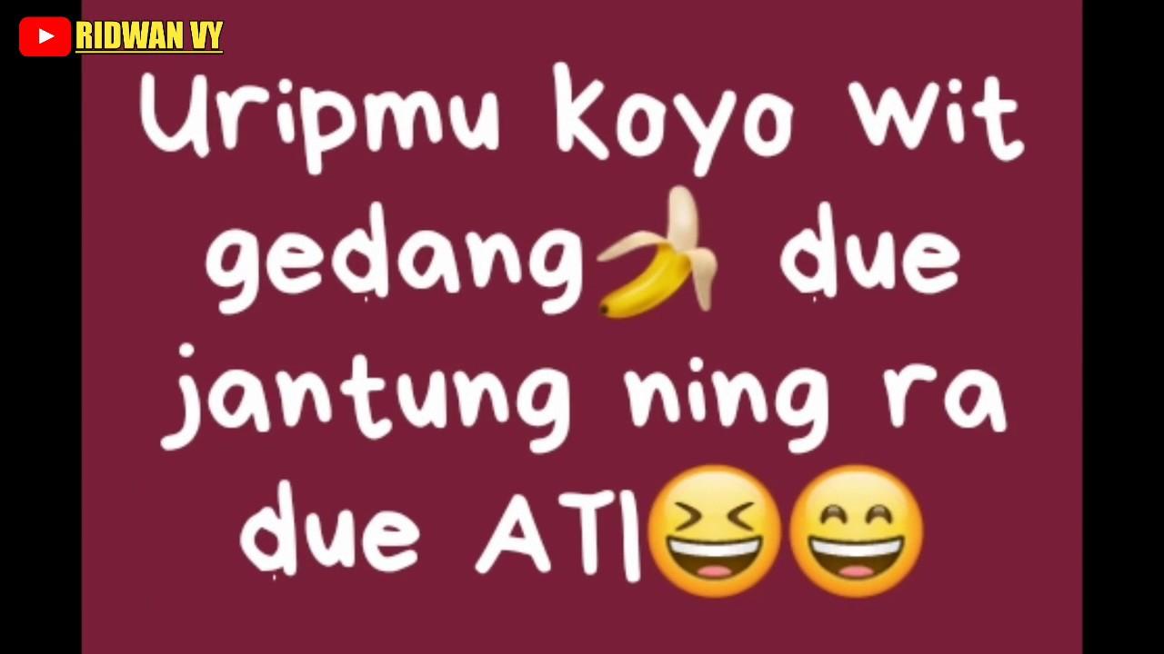 "Status WA Lucu ""Bahasa Jawa"" Part01"