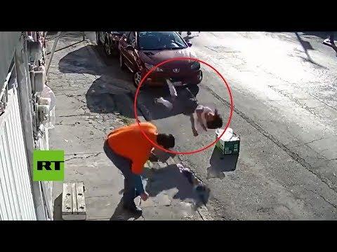FUERTE: Niña casi es decapitada por un cable telefónico en México