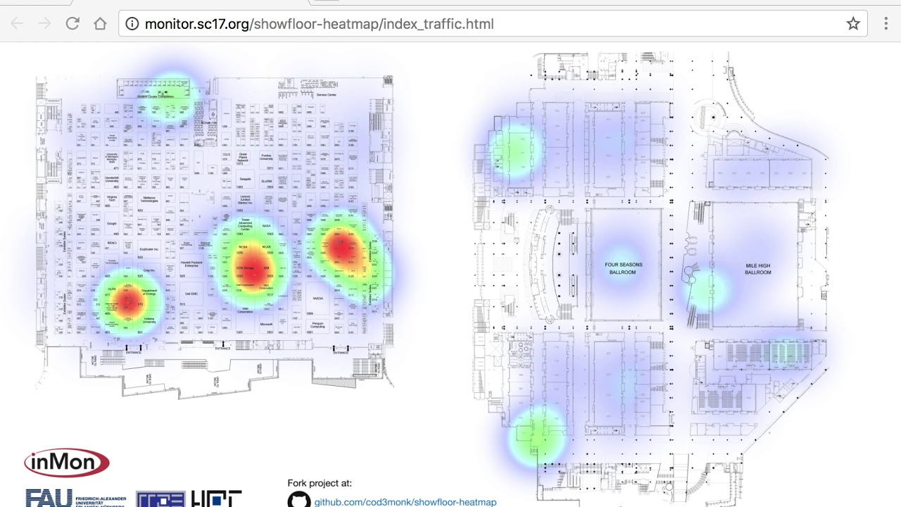 sFlow: Real-time WiFi heat map