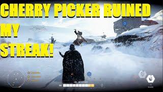 Star Wars Battlefront 2 - A Cherry Picker RUINED My Vader Killstreak! XD