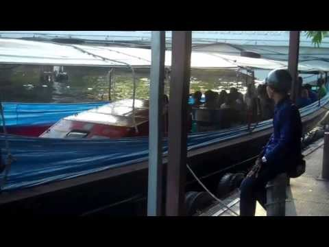 Bangkok Thailand Canal Ferry Boat 2013 (On Dock), Part 1
