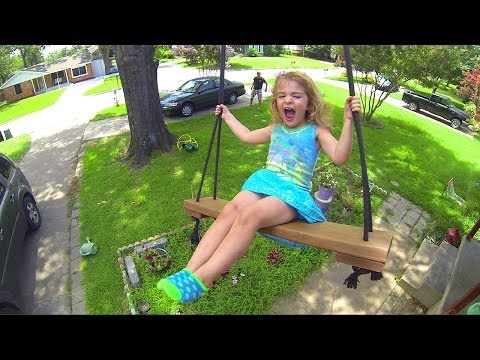 HUGE TREE SWING WITH GOPRO AND CHILDREN!