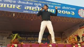 Singer Baikuntha Mahat Performing New super hit song Hamro Nepal Hami Nepali On Live Stage 2016/2073