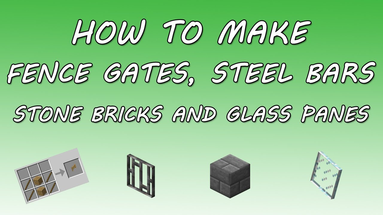 stone fence gate minecraft. minecraft how to make fence gates steel bars stone bricks and glass panes youtube gate g