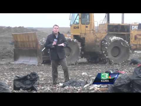 Sacramento County man gets stuck in garbage bin, builds 'coffin'