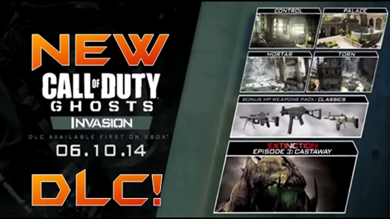 COD Ghosts: Map Pack 3 LEAKED Details! ''INVASION'' DLC: Maps, MW2