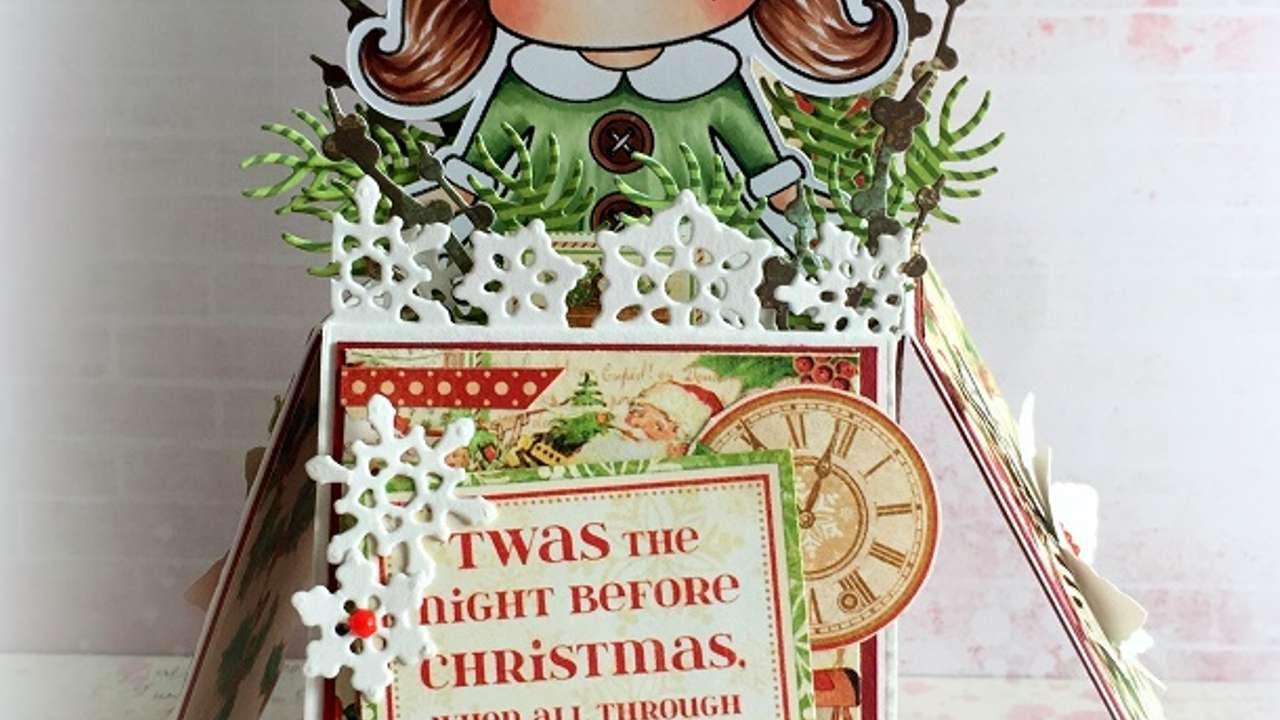 How To Make A Pop Up Christmas Box Card - DIY Crafts Tutorial ...