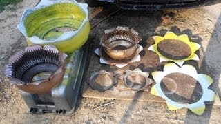 Flower Planters and Sun Art from Used Tires - For Sale