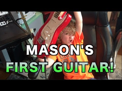 My Son Got His First Guitar!