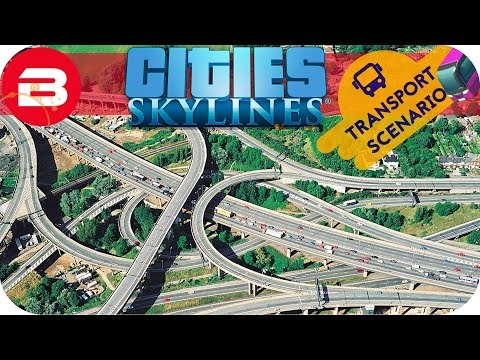 Cities Skylines Gameplay - SUPER JUNCTION UPGRADES (Cities: Skylines TRANSPORT Scenario) #3