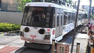 【運行50周年記念として復活】東急世田谷線300系 幸福の招き猫電車復活