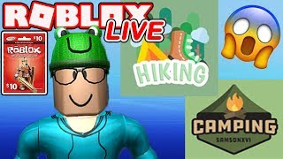 Hiking vs Camping? Roblox LIVE with Schlamaddy | Enter Weekly Robux Giveaway | Family Friendly
