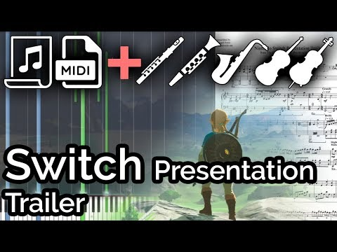 Switch Presentation (Story) Trailer Music - Zelda: Breath of the Wild (Synthesia Piano Tutorial)