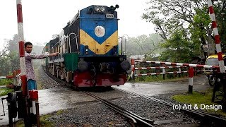 Chitra Express: One of The Fastest Train of Bangladesh Railway Moving fast in Rough Weather.